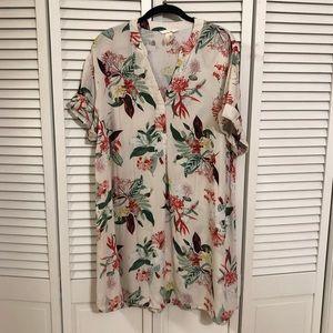 H&M Floral Print Tunic Dress